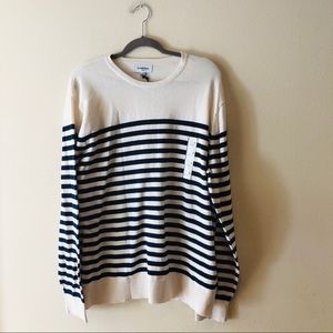 NWT GOODFELLOW & CO STRIPED LONG SLEEVE SWEATER